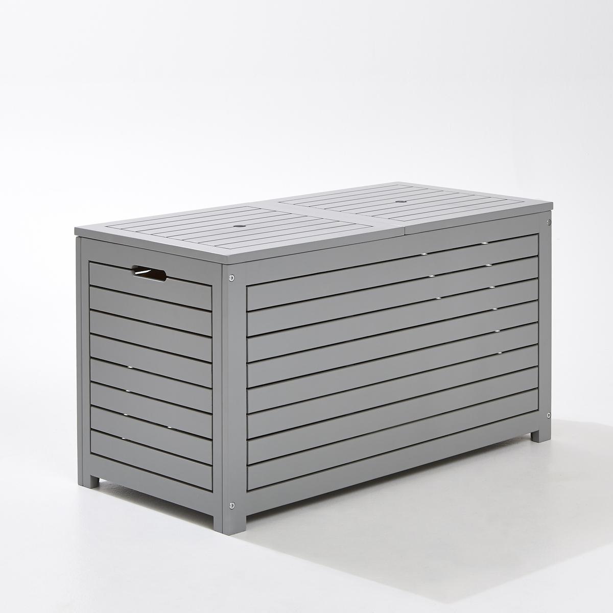 Ящик для вещей прямоугольный из акацииЯщик для хранения, акация : В саду, на террасе или балконе этот прямоугольный ящик для вещей большой вместимости, эстетичный и очень практичный, позволит разместить, защитив он непогоды, ваши подушки, игрушки...Характеристики : Акация, морениеСочетается с ящиком для вещей квадратной формы (продается на сайте laredoute.ruРазмеры : Ширина : 90 смГлубина : 45 см.Высота : 50 см.Размеры и вес упаковки :1 упаковкаДлина 94 см.Ширина 51смВысота 13.5см Вес: 14 кг.Качество :Акация обладает хорошими механическими свойствами (прочность, устойчивость к насекомым и грибам, устойчивость к непогоде и чередованию сухой и влажной погоды).Доставка :Ящик продается в разобранном виде. Возможна доставка до квартиры !Внимание ! Убедитесь, что товар возможно доставить на дом, учитывая его габариты (проходит в двери, по лестницам, в лифты).<br><br>Цвет: серый