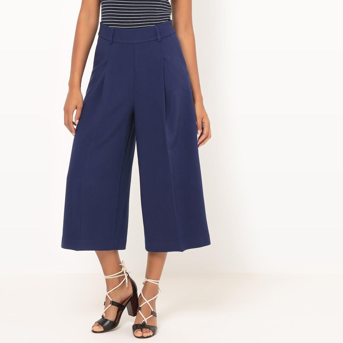Юбка-брюки с завышенной талией