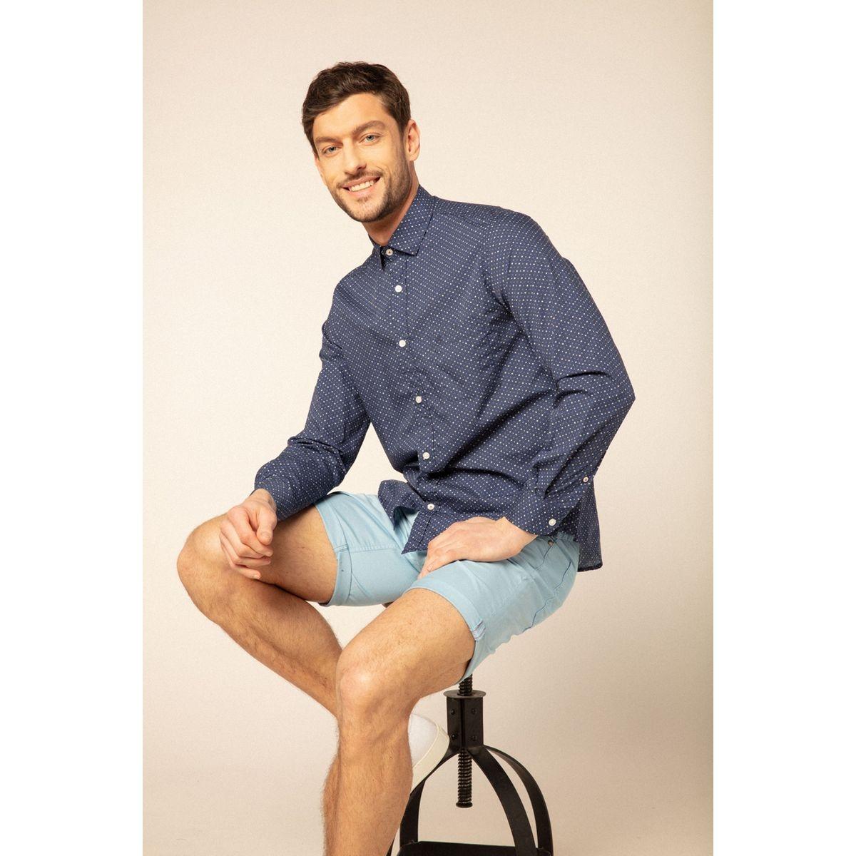 Chemise manches longues à imprimé flocons fantaisie comfort fit