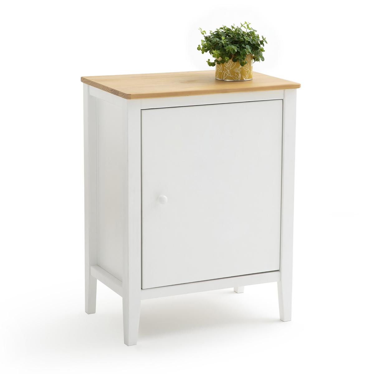 Шкаф LaRedoute Кухонный с 1 дверцей ALVINA единый размер белый