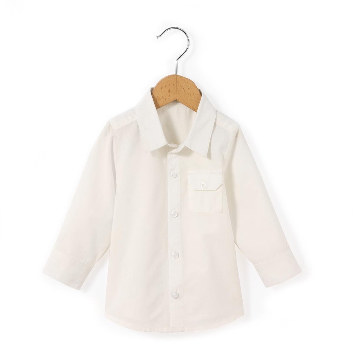 Рубашка однотонная,  1 мес.-3 года