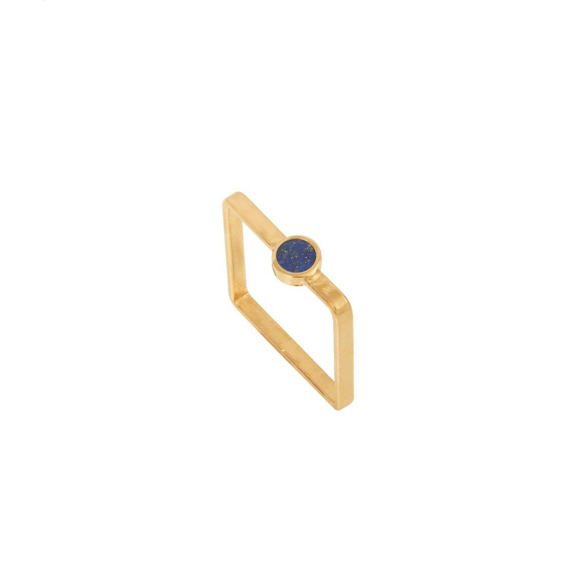 Bague dorée lapis lazuli Ares