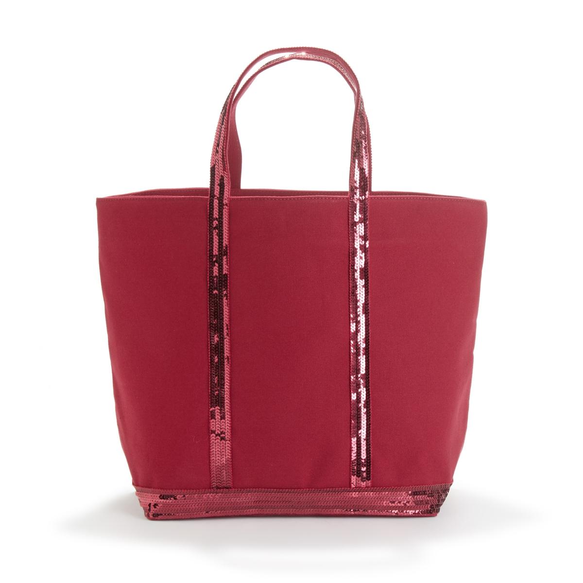 Сумка-шоппер La Redoute Среднего размера из ткани с блестками единый размер красный
