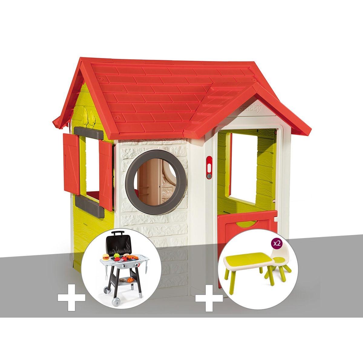 Cabane enfant My House - Smoby + Plancha + Table et 2 chaises