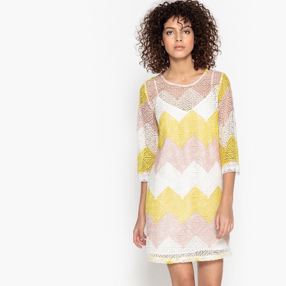 Платье кружевное с рисунком CAMILLE camille s team