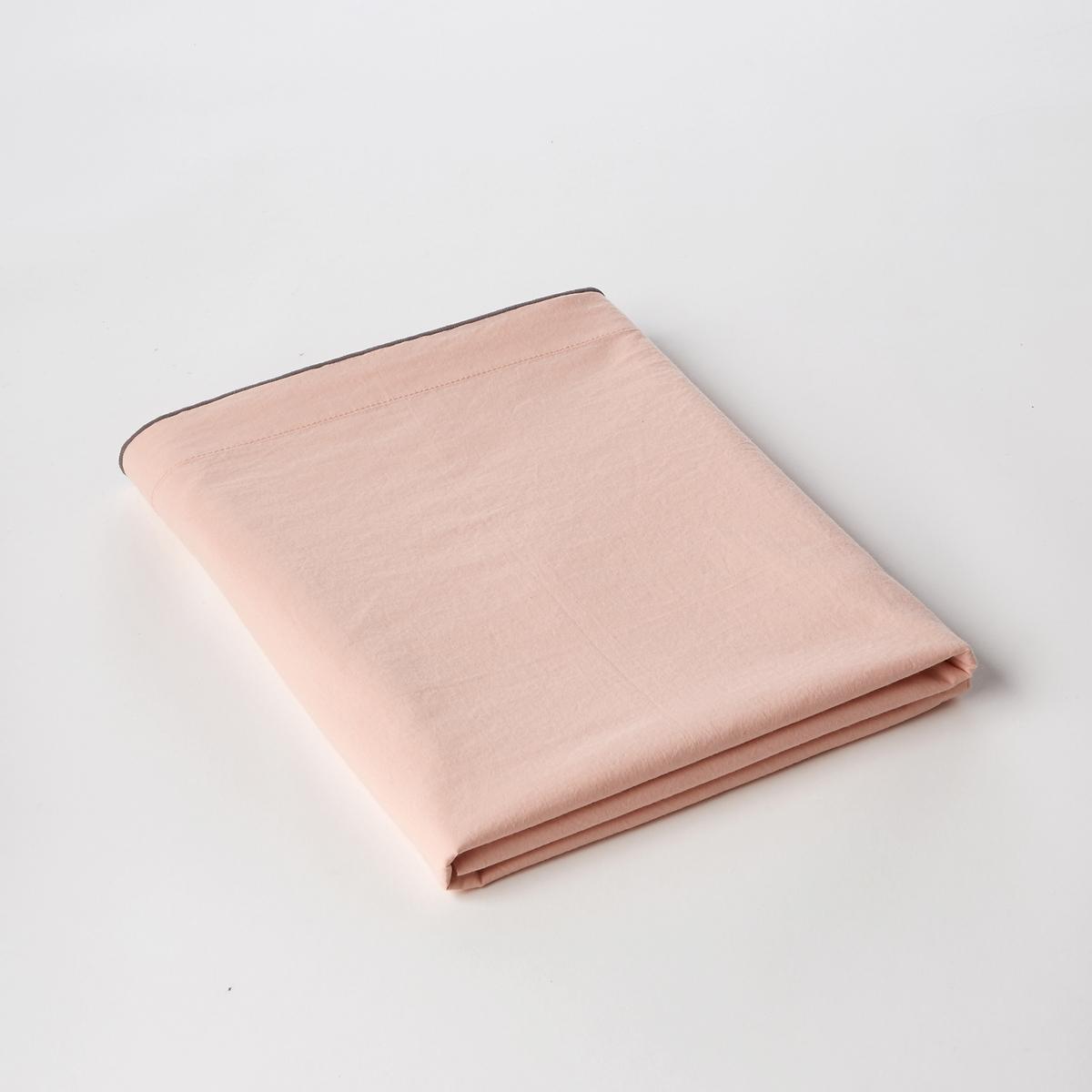 Простыня из хлопковой вуали, GypseХлопковая вуаль. Очень мягкий, воздушный и нежный материал. С легким эффектом блеска. Ткань с легким жатым эффектом. Не требует глажки.Состав :- Вуаль, 100% хлопокОтделка :- Контрастная рельефная вышивка серого цветаУход :- Машинная стирка при 40 °С. Размеры:180 x 290 см  : 1-сп.240 x 300 см : 2-сп.270 x 310 см : 2-сп.Знак Oeko-Tex® гарантирует, что товары прошли проверку и были изготовлены без применения вредных для здоровья человека веществ.<br><br>Цвет: кремовый,розовая пудра