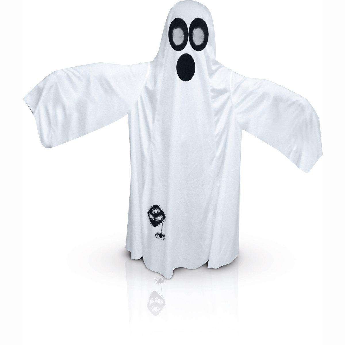Маскарадный костюм привиденияМаскарадный костюм привидения. Маскарадный костюм привидения: белое платье, капюшон с отверстиями для глаз, маска привидения. Тюль вместо глаз. 100% полиэстера<br><br>Цвет: набивной рисунок