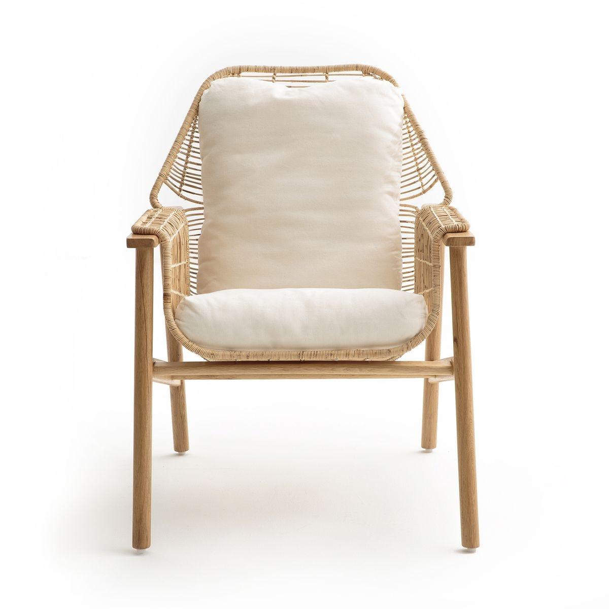 fauteuil rotin tressé, prasine naturel am.pm