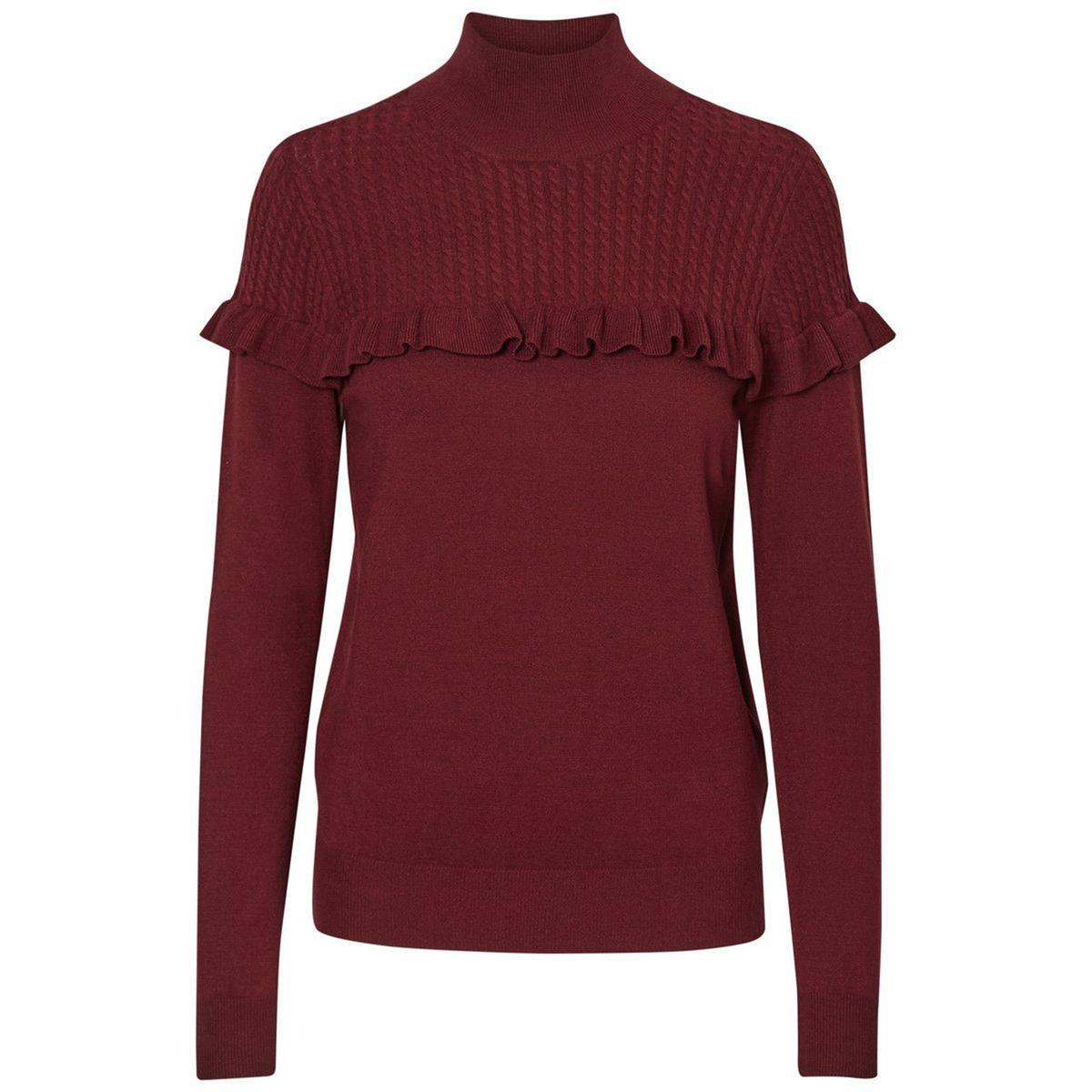 Пуловер с воротником-стойкой из тонкого трикотажа пуловер vero moda vero moda ve389ewujz90 page 1