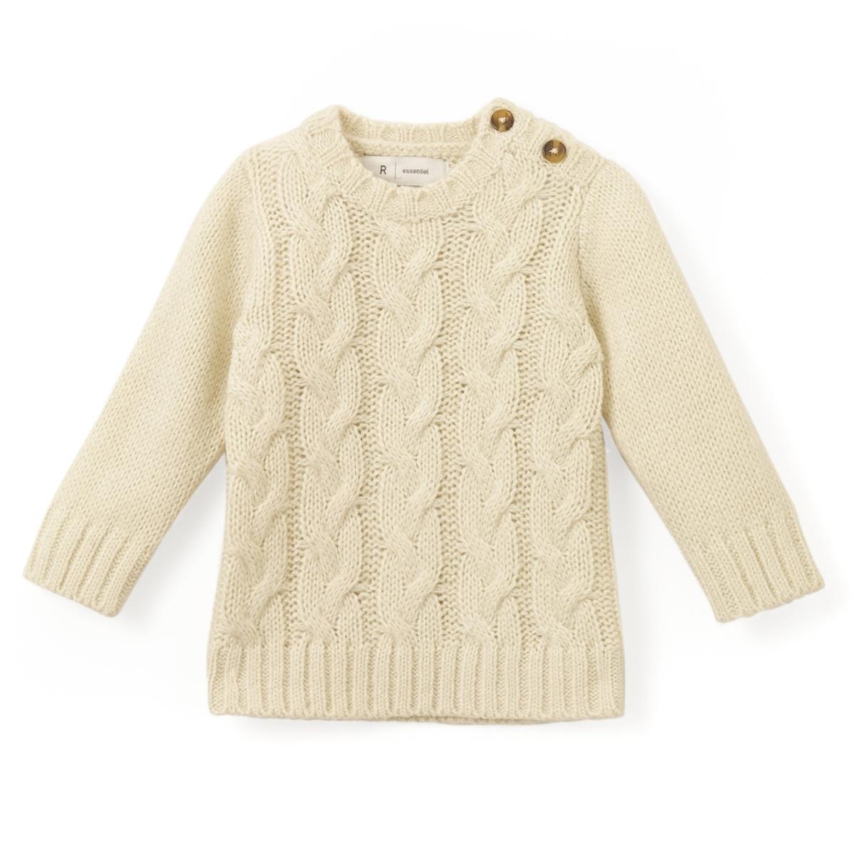 Пуловер трикотажный с рисунком косы, 1 мес. - 3 лет