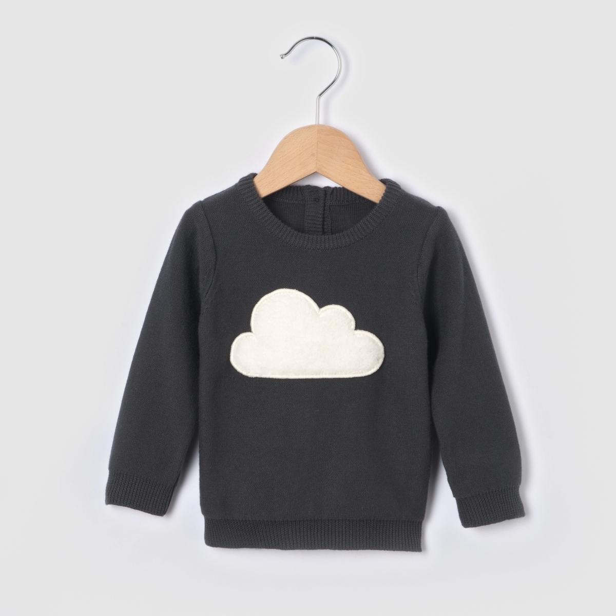 Пуловер с круглым вырезом из тонкого трикотажа от La Redoute Collections