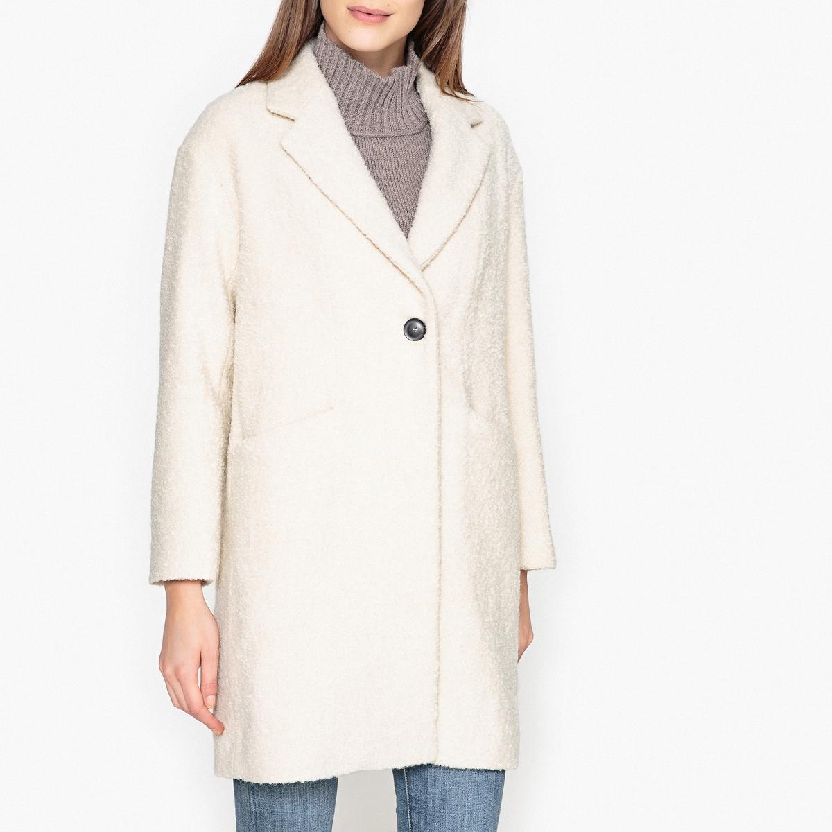 Пальто длинное двухцветное из шерсти и альпаки пальто двухцветное