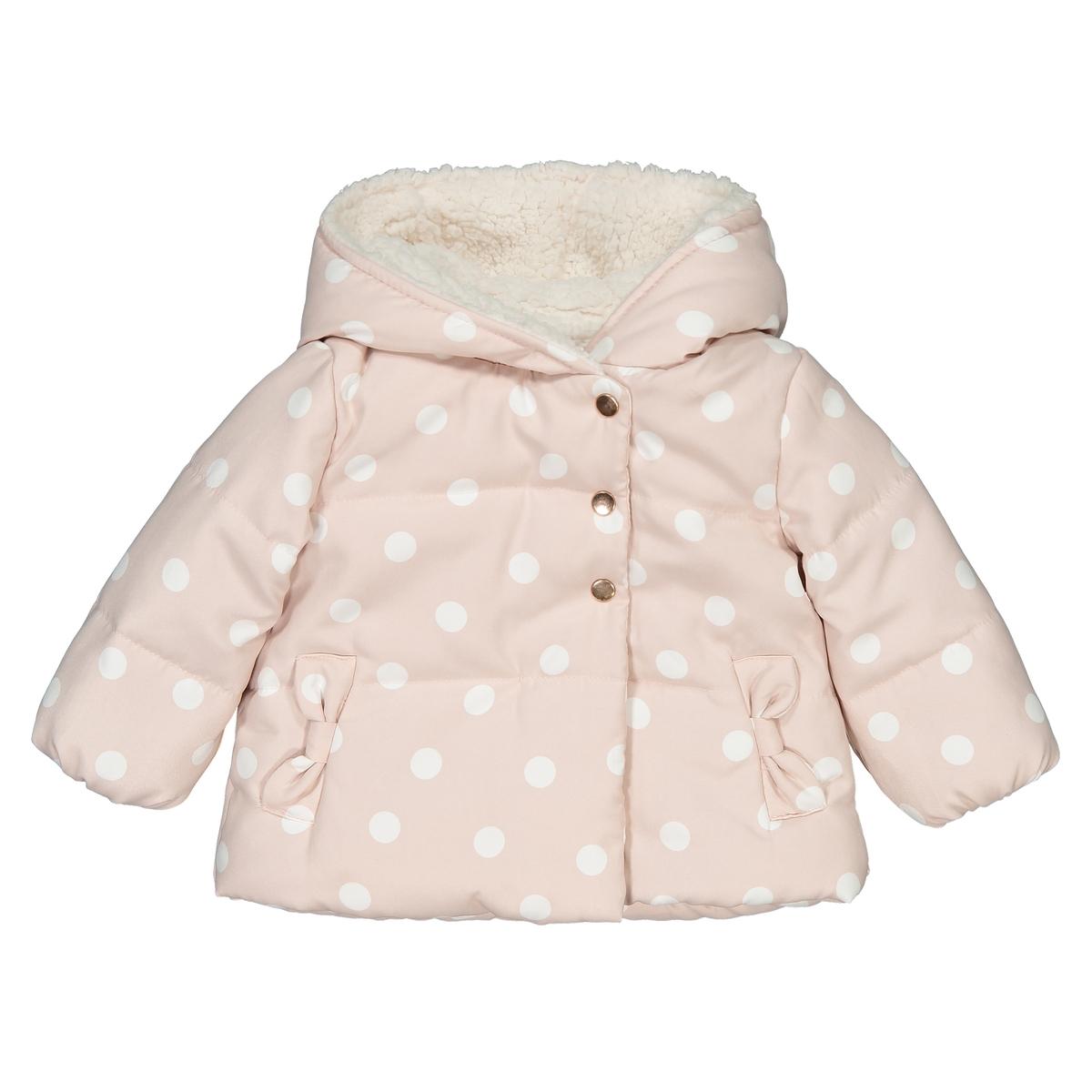 Куртка La Redoute С капюшоном в горошек мес- года 1 мес. - 54 см розовый куртка la redoute в горошек на подкладке из флиса мес года 1 мес 54 см синий