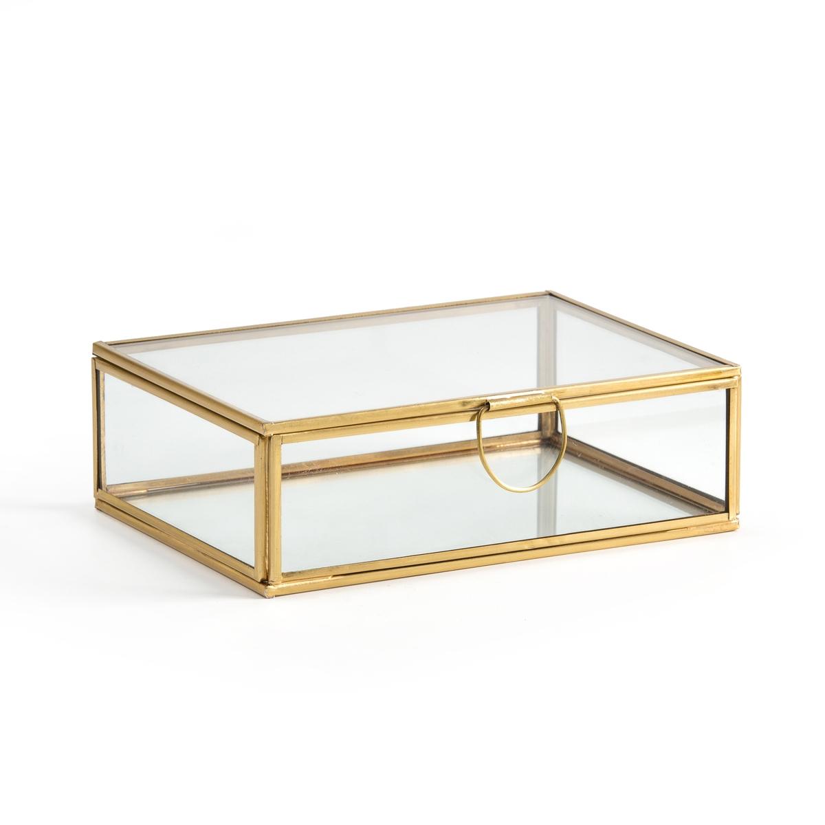 Коробка-витрина La Redoute Из стекла и латуни прямоугольная Uyova единый размер желтый бра la redoute из латуни и опалового стекла moricio единый размер белый