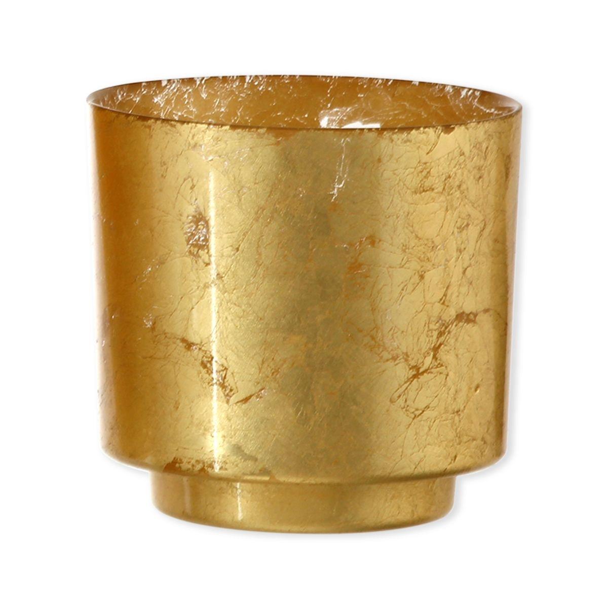 Photophore en verre doré 15cm - RICHIE
