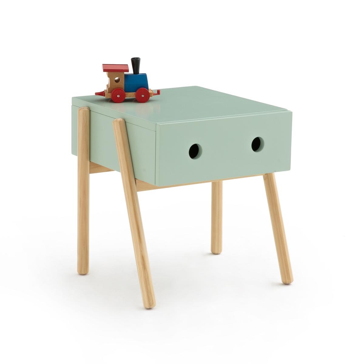 Столик LaRedoute Ночной детский с 1 ящиком Wallet единый размер зеленый