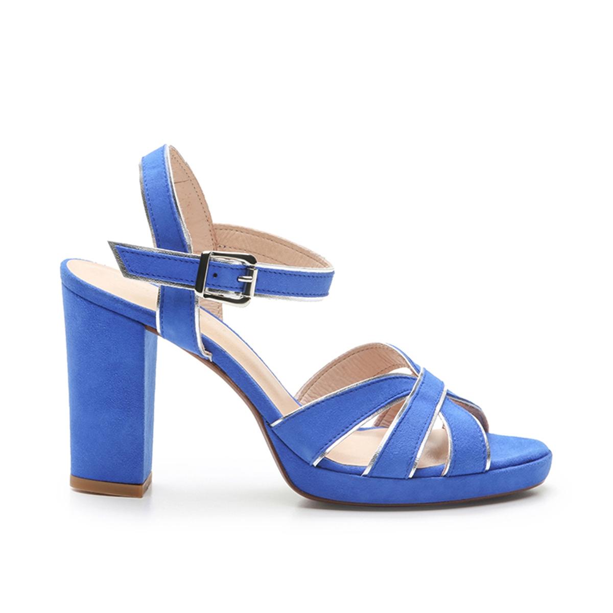 Босоножки La Redoute Кожаные Lotsi 38 синий босоножки кожаные bakio