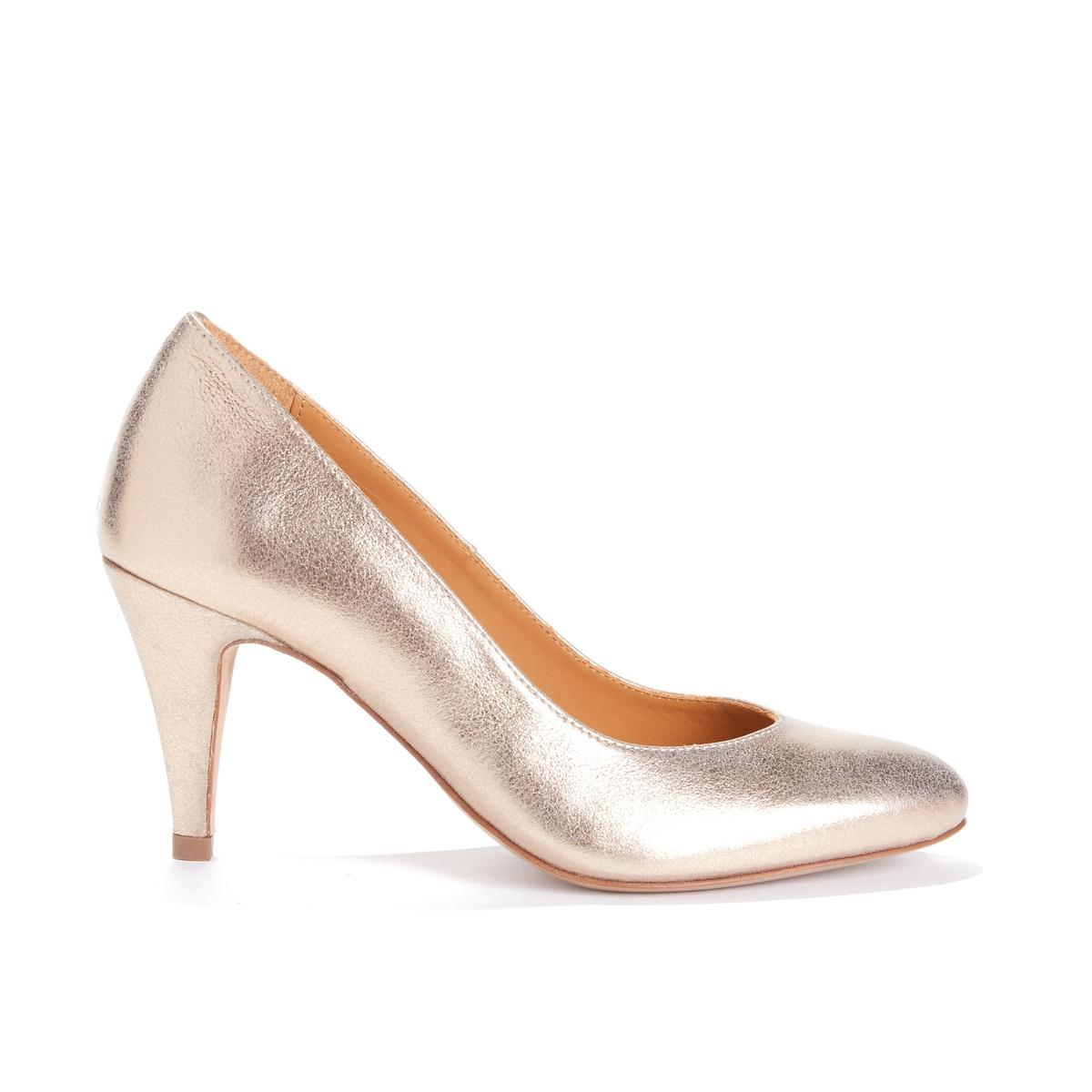 Туфли с ламелями золотистого цвета LA FLATTEUSE BOBBIES