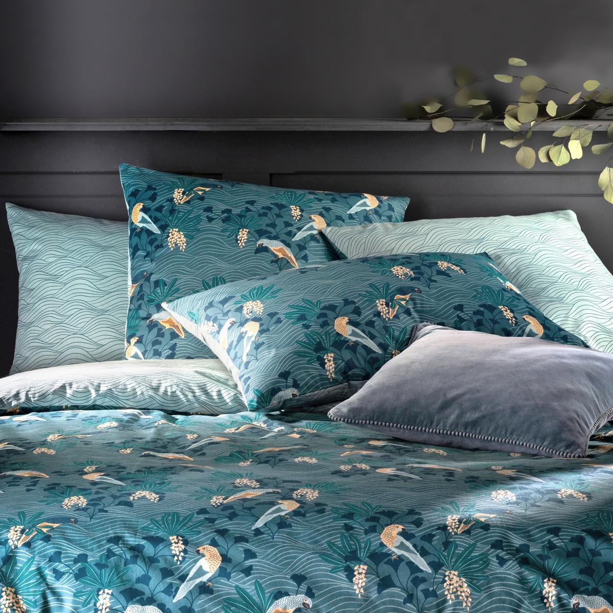 Minami Bird Print Pillowcase In Cotton Percale