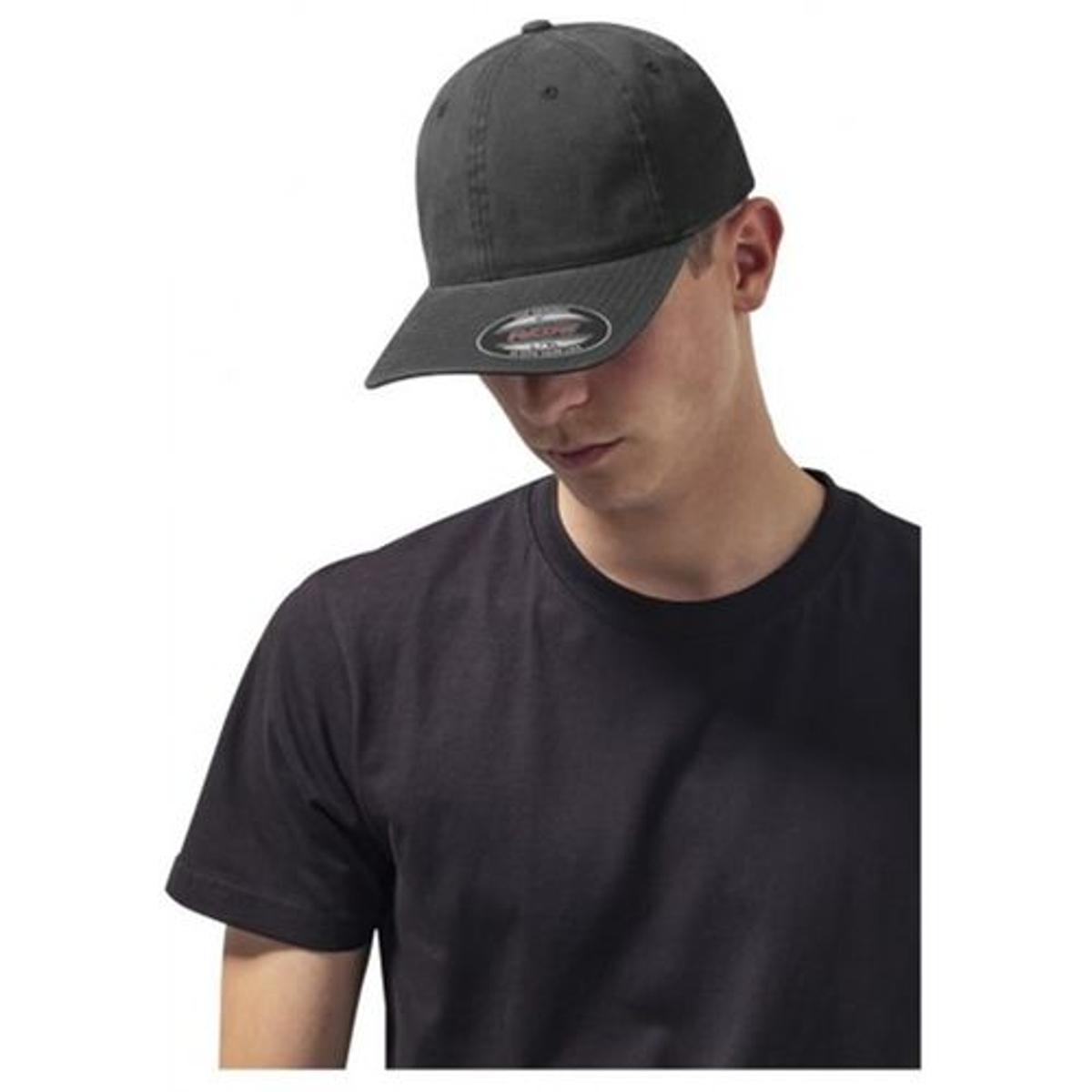 Casquette Incurvée Flexfit Noir Dad Hat Garment Washed