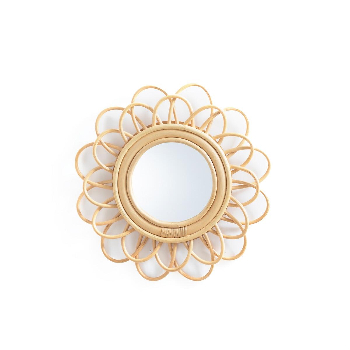 Зеркало LaRedoute Из ротанга в форме двойного цветка 35 см Nogu единый размер бежевый