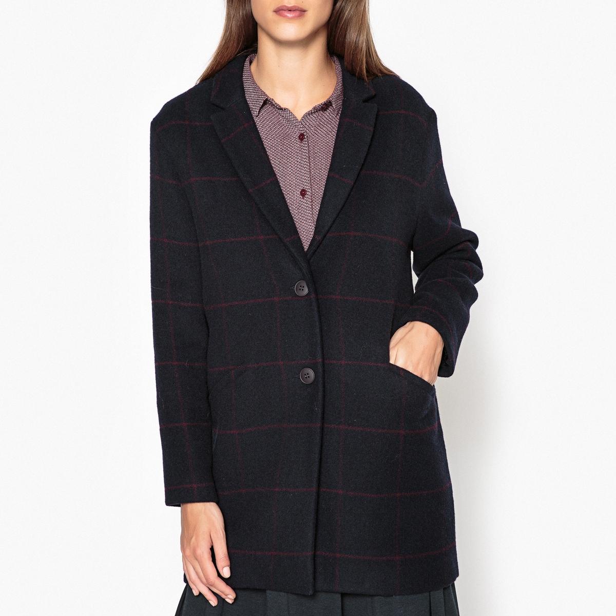 Пальто средней длины в клетку CARTOON рубашка harris wilson harris wilson ha019emqpi73