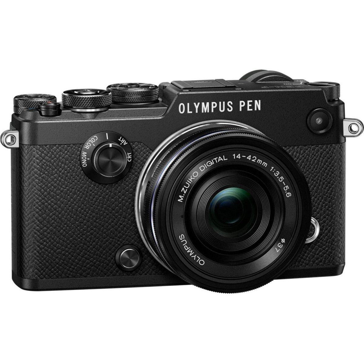 Appareil photo Hybride OLYMPUS PEN-F Noir + 14-42mm EZ