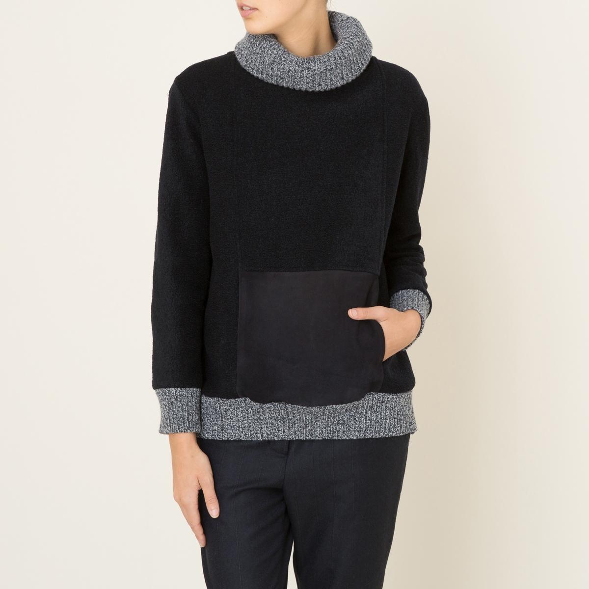 Пуловер с отворачивающимся воротником ALEX
