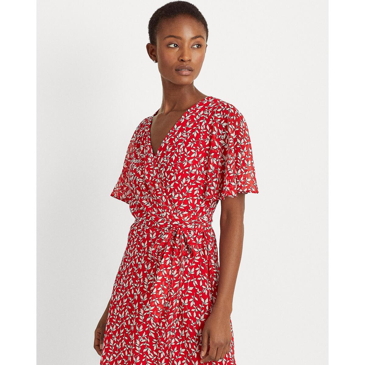 Платье-футляр LaRedoute С рисунком 42 (FR) - 48 (RUS) красный