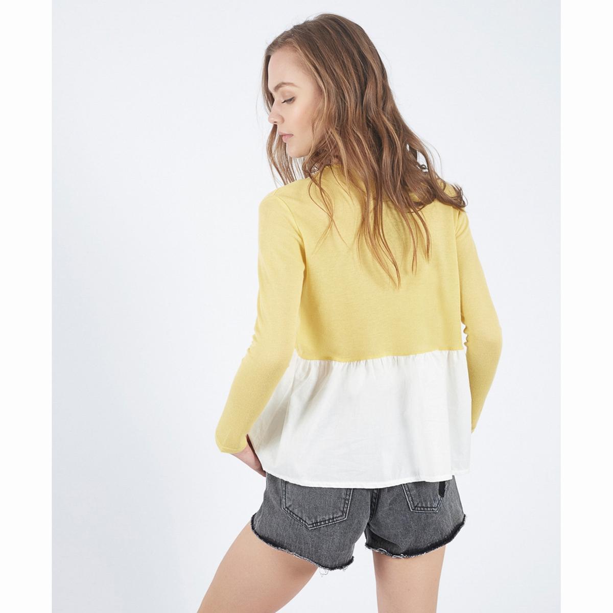 Пуловер двухцветный Amarillo StonemСостав и описаниеМатериал : 85% вискозы, 15% полиэстераМарка : Compania FantasticaМодель : Jersey Amarillo StonemУходСледуйте рекомендациям по уходу, указанным на этикетке изделия.<br><br>Цвет: желтый<br>Размер: S