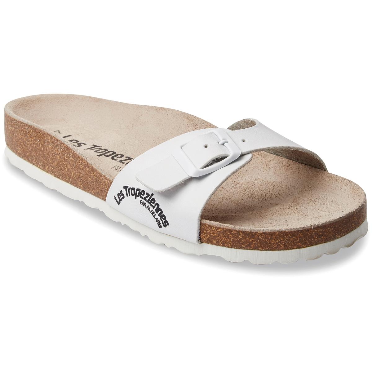 Туфли без задника синтетическиеДетали  •  Вьетнамки •  Застежка : без застежки •  Открытый мысокСостав и уход  •  Верх 100% синтетический материал •  Стелька 100% спилок •  Подошва 100% синтетический материал<br><br>Цвет: белый,черный