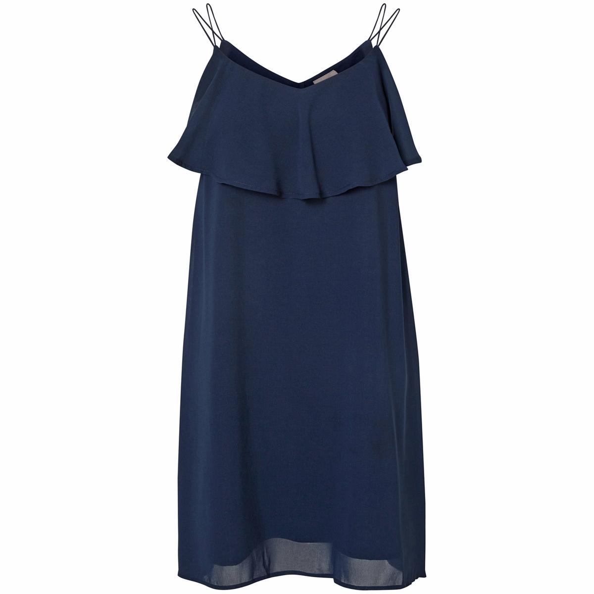 Платье с тонкими бретелями