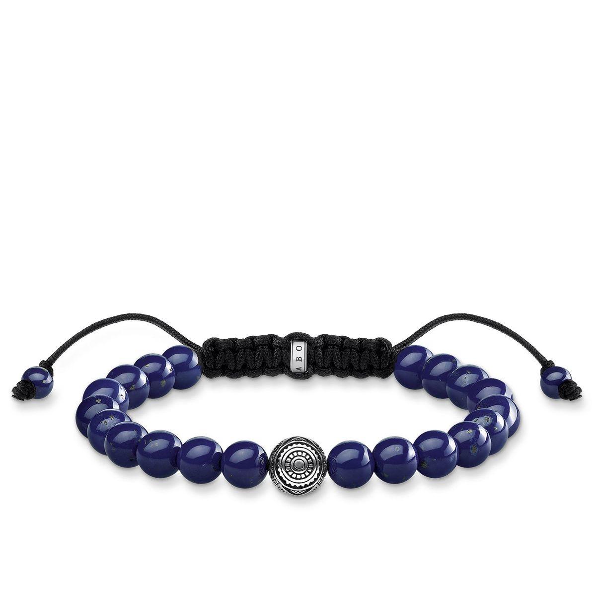 THOMAS SABO Bracelet Ethnique Bleu Argent sterling 925, noirci 22 A1779-535-1-L22v