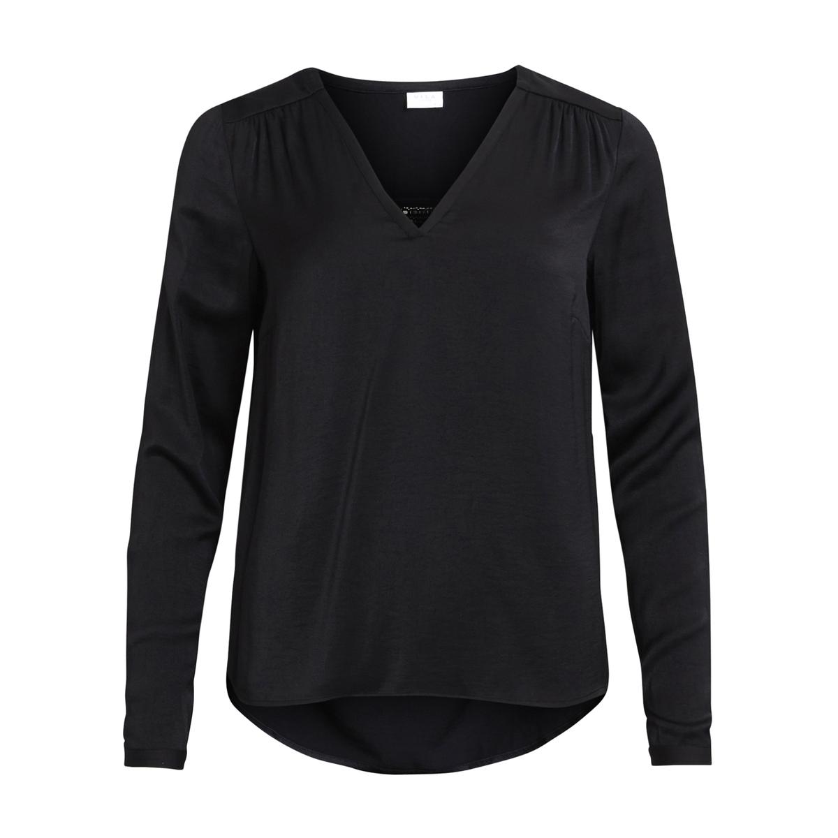 цены Блуза с V-образным вырезом, длинные рукава