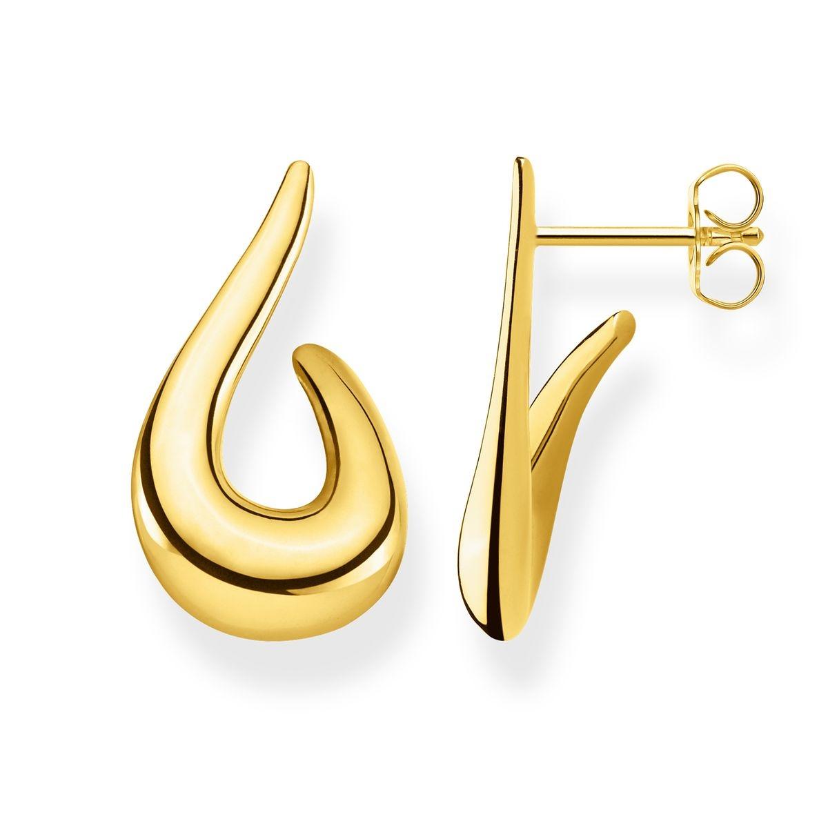 Boucles D'oreilles Heritage Boucles d'oreilles Argent Sterling 925 ; Plaqué Or Jaune 18 Carats
