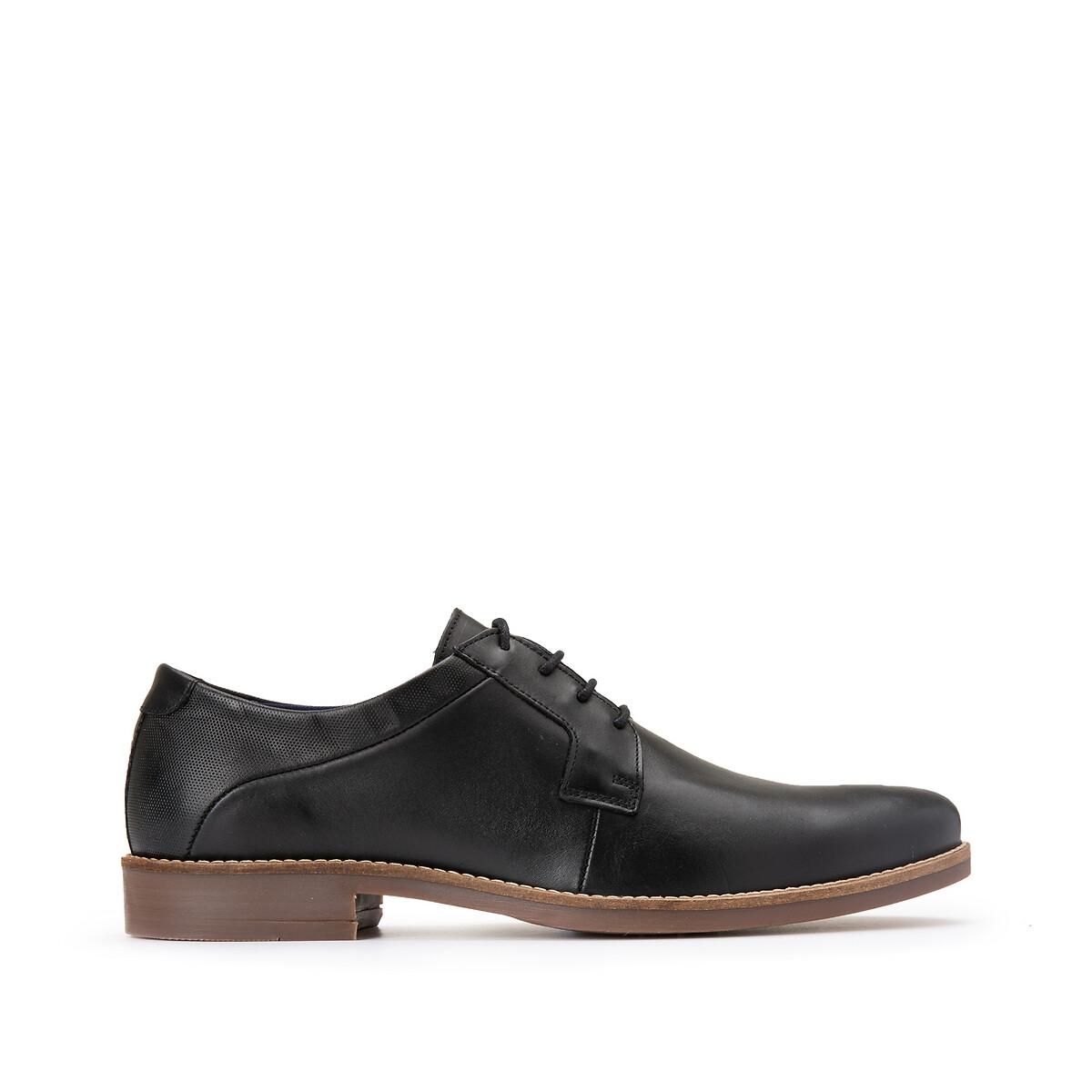 Ботинки-дерби La Redoute Кожаные 41 черный ботинки дерби la redoute кожаные divyo 39 оранжевый