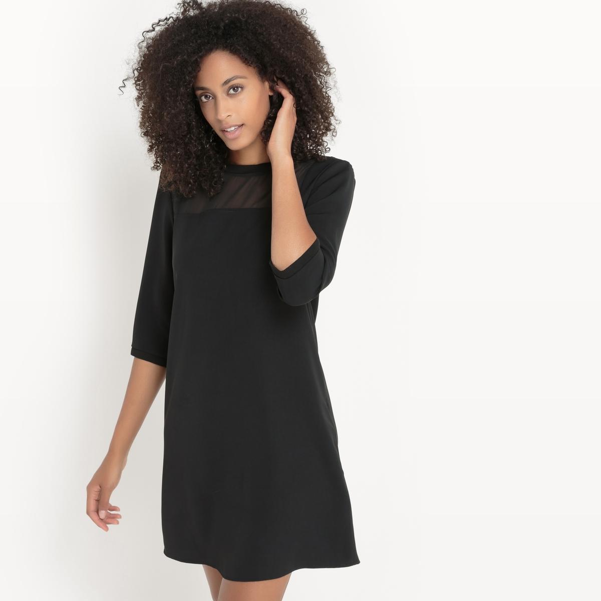 Платье с длинным рукавомСостав и описаниеМатериалы : 100% полиэстерМарка : Sud ExpressМодель : RecourbeУходСледуйте рекомендациям по уходу, указанным на этикетке изделия.<br><br>Цвет: черный<br>Размер: L