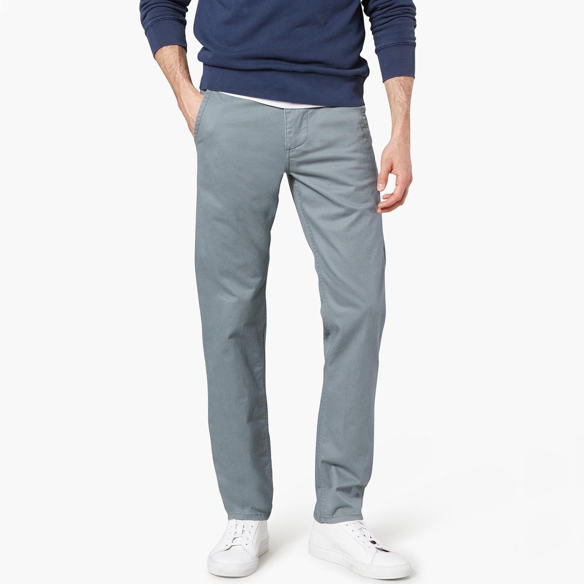 Pantaloni chino slim tapered stretch twill
