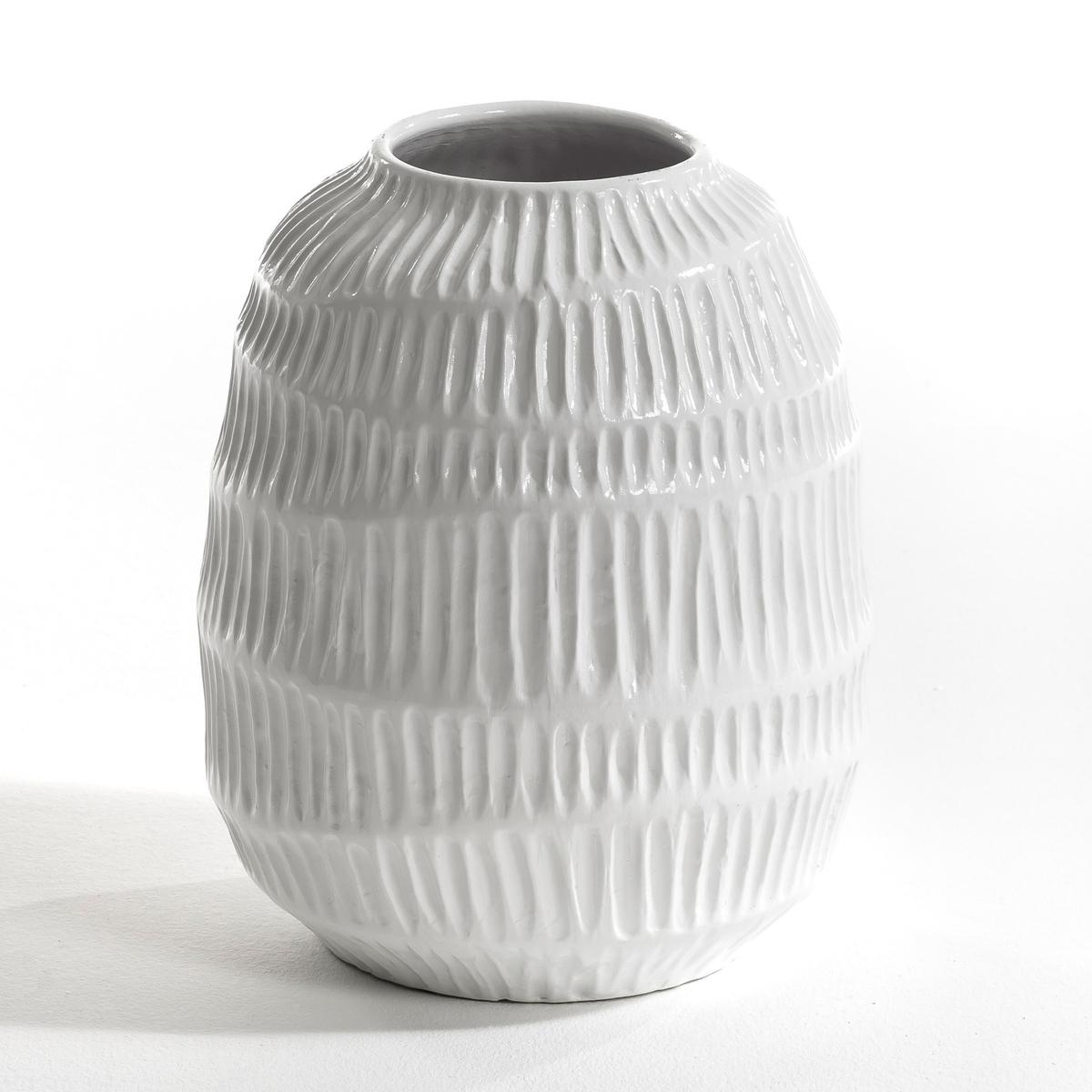 Ваза с рифлеными полосами Belzemine, дизайн E. Галлина