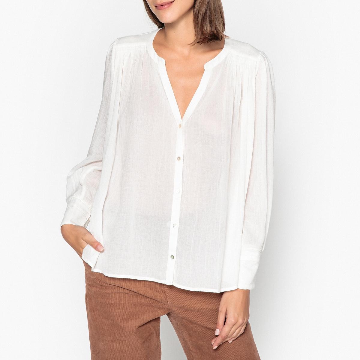 Блузка струящаяся с V-образным вырезом PHIL