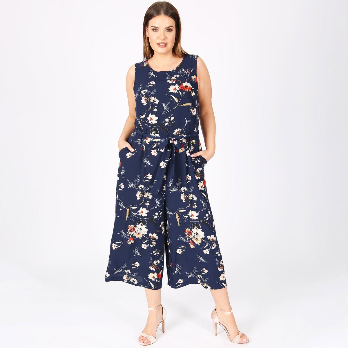 Комбинезон с брюками и цветочным принтом gucci кожаные слиперы с цветочным принтом princetown