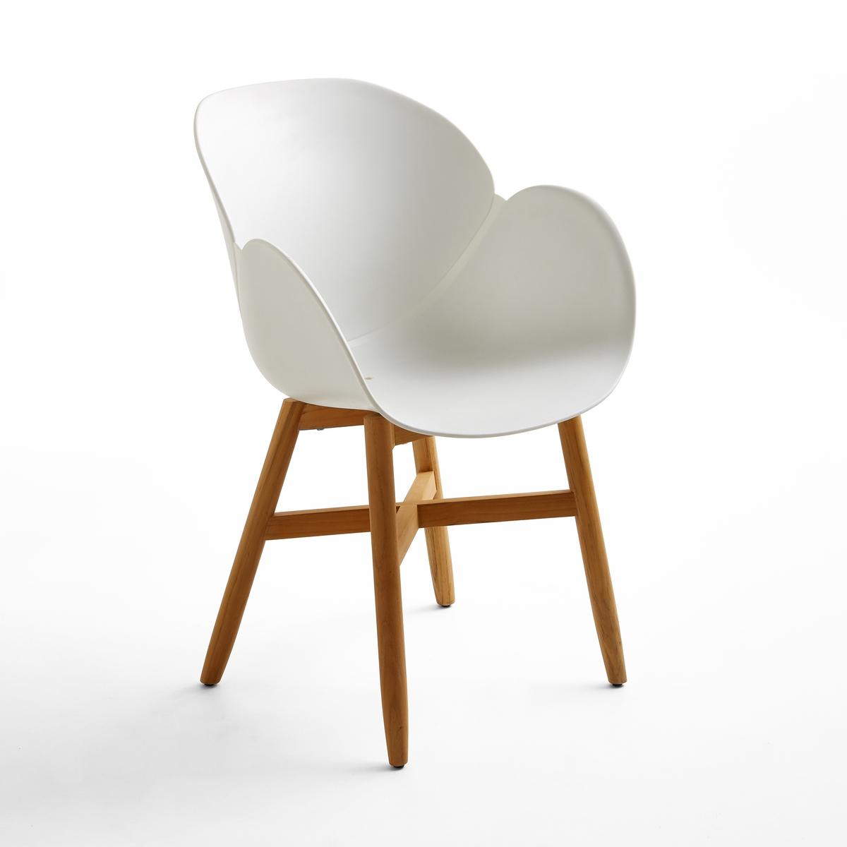Кресло для сада с сиденьем в форме раковины, JimiКресло для сада с сиденьем в форме раковины Jimi. Кресло для сада Jimi, прочная обивка сиденья из полипропилена, крепкие ножки из тика FSC®*.Характеристики кресла для сада с сиденьем в форме раковины Jimi :Сиденье в форме раковины и подлокотники из полипропилена.Расширяющиеся ножки из тика FSC®*, с натуральной отделкой .Всю коллекцию мебели для сада и стулья того же набора Jimi вы можете найти на сайте laredoute.ruРазмеры кресла для сада с сиденьем в форме раковины Jimi :Общие размерыДлина : 58 см  Высота : 85,5 смГлубина : 58 см  Сиденье : Ш.42 x Г.48 смРазмеры и вес упаковки :1 упаковка :62 x 54 x В.55 см7 кгДоставка:Товар продается готовым к сборке.Возможна доставка до двери по предварительной договоренности.Внимание! Убедитесь, что возможно осуществить доставку товара, учитывая его габариты (проходит в дверные проемы, лестничные проходы, лифты).*Ярлык FSC - Международный Лесной попечительский совет- гарантирует бережное использование природных ресурсов, сохранение биологического разнообразия и местных видов ® 1996 FSC.<br><br>Цвет: белый,черный