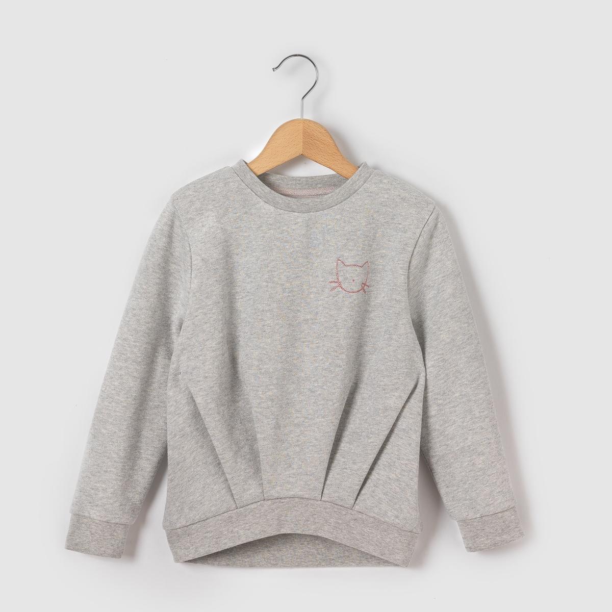Пуловер с блестками и вышивкой, 3-12 лет от La Redoute Collections