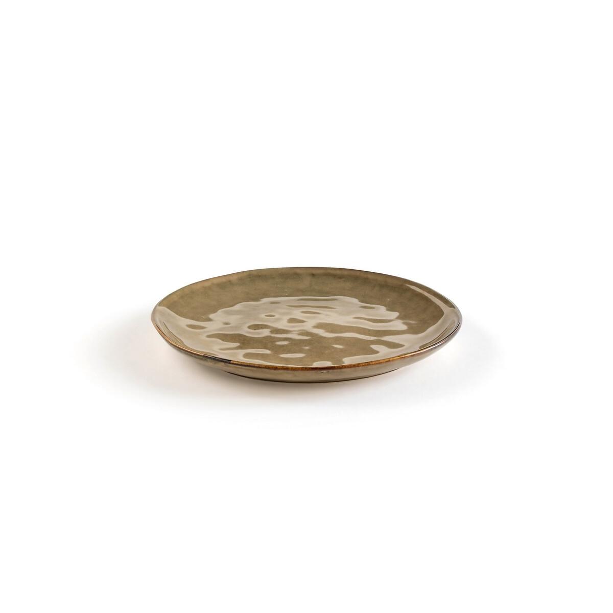 Фото - Комплект из 4 десертных тарелок LaRedoute Из керамики Horciag единый размер бежевый 4 десертные laredoute тарелки из глазурованной керамики anika единый размер серый