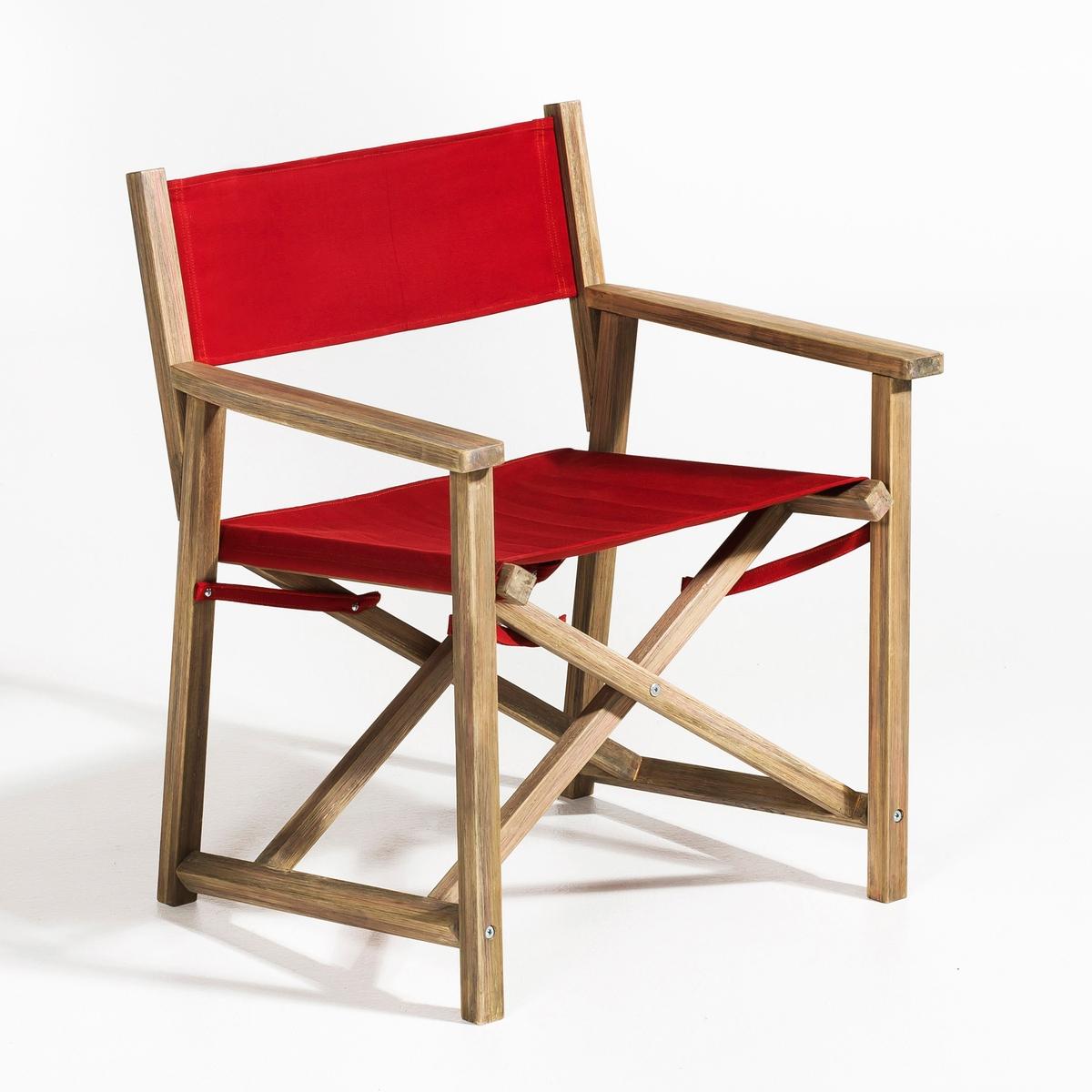 Кресло режиссёрское AlfredМодернизированное классическое  кресло, складное и удобное, для использования как в помещении, так и на открытом воздухе . Каркас из искусственно состаренной акации . Полотно, 100% хлопка. Высота спинки 40 см. Д.63 x Г.55 x В.74 см.<br><br>Цвет: белый,кирпичный<br>Размер: единый размер