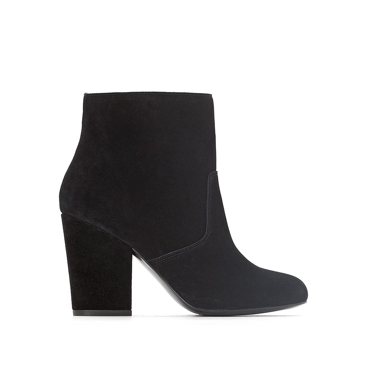 Ботильоны кожаные в стиле вестерн на высоком каблуке ботинки в стиле вестерн