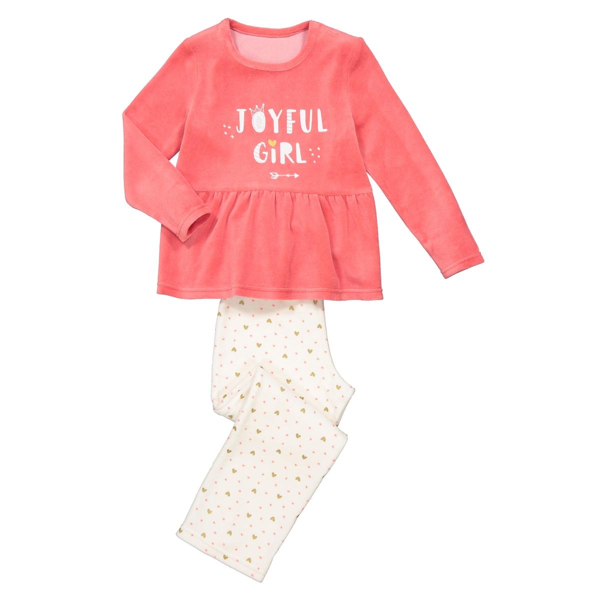Пижама La Redoute С надпись из велюра 12 лет -150 см розовый пижама la redoute с надпись из велюра 12 лет 150 см розовый