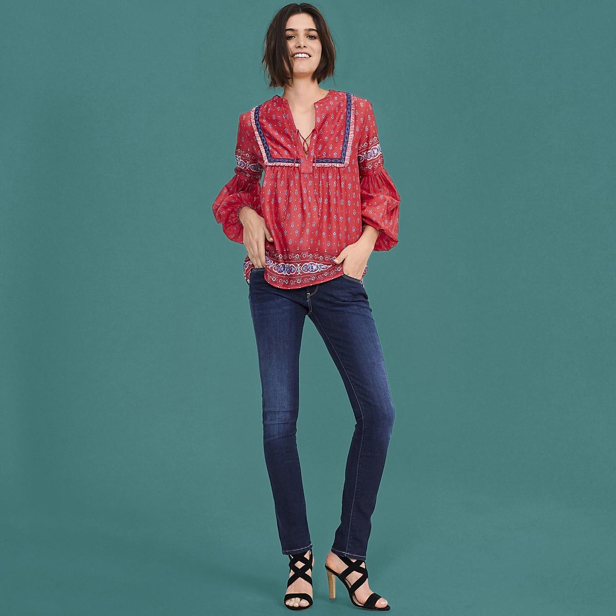 Imagen principal de producto de Blusa lisa con cuello redondo, manga larga - Pepe Jeans