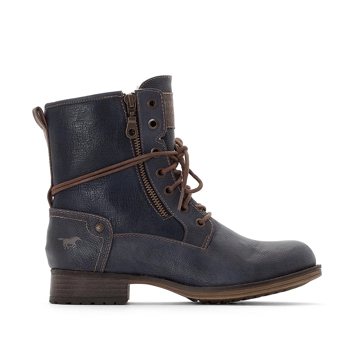 Ботинки La Redoute На шнуровке 36 синий