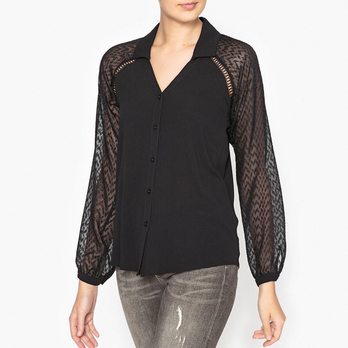 Рубашка из двух материалов пижама из двух материалов с длинными рукавами